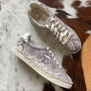 Dolce Vita Madox Snake Print Espadrille Sneakers